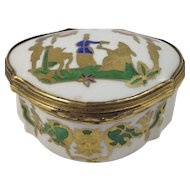 Early 20th Century Hand Painted Porcelain Trinket Box