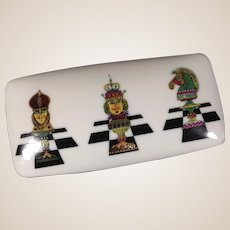 Limoges by Chamart Porcelain Box with Chessmen (RARE)