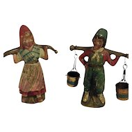 Antique Austrian Cold Painted Bronze-Dutch Boy & Girl