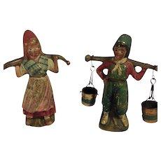 Antique Austrian Cold Painted Bronze-Dutch Boy & Girl