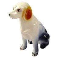 Vintage Ceramic/Porcelain Hand Painted Hound Dog (Press Mold)