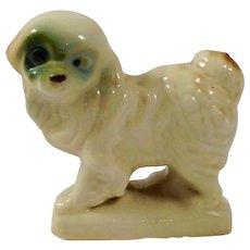 Vintage Japanese Porcelain Bichon Frise Pup (PRESS MOLD)