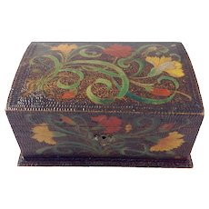 Late 19th Century Pyrography Casket Box with key - Red Tag Sale Item