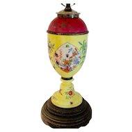 RARE Antique, c.1800s, Meissen Oil Lamp Converted to electric
