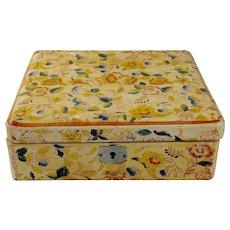 20th Century Papier-Mache Tea Caddy/Box
