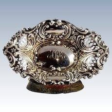 Dominick & Haff Sterling Repousse' and Reticulated Dish