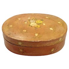 American Folk Art Hand Painted Papier-mache' Box