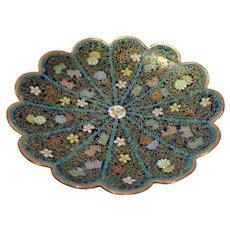 Antique Chinese Cloisonné Pin Dish