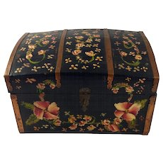 American Antique Miniature Handprinted Keepsake Chest