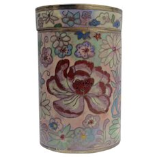 Chinese Cloisonné Tea Box/Container - Red Tag Sale Item