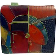 Artist: Elaine Reed Porcelain and Hand Rubbed Oil Paints on Box