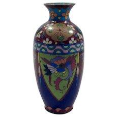 19th Century Japanese, Early Meiji Period (1868-1912) Cloisonné Vase