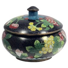 Chinese Cloisonné Tea Box/Container