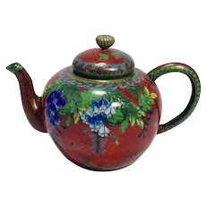Antique Japanese Cloisonne Censor/Tea Pot