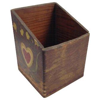 Antique Pennsylvania Dutch Match Box
