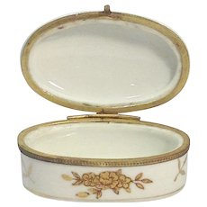 Limoges Style Porcelain Hand Painted Trinket Box