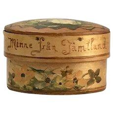 Antique Pennsylvania Dutch Bent Wood Oval Box