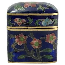 Antique Chinese Cloisonne Rectangular Trinket Box