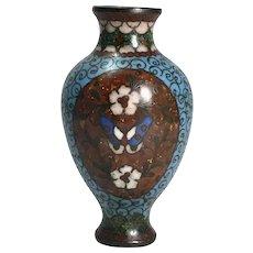 Antique Japanese Cloisonne Mini Vase