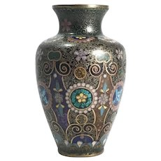 Antique Japanese Cloisonne Small Vase