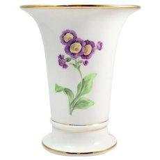 Vintage Meissen Floral Bouquet Porcelain Trumpet Vase