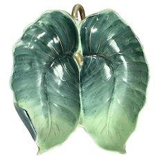 Vintage Leaf Hors d'oeuvre Dish