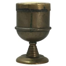 Antique Catholic Church Brass Ceremonial Candle Holder