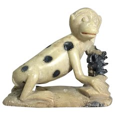Hand Carved Soapstone Monkey Figurine