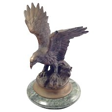 Early 20th Century Bronze Eagle Statue