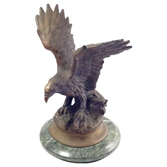Early 20th Century Bronze Eagle Statue