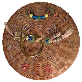 Vintage Chinese Sewing Basket