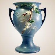 Roseville Blue Snowberry Pattern Trophy Vase