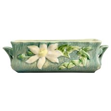Roseville Rectangular Planter with Clematis Pattern