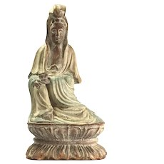 Antique Chinese Wooden Sculpture