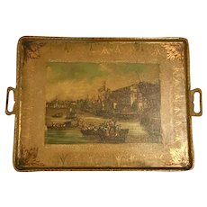 18th Century English Toleware Metal Serving Tray