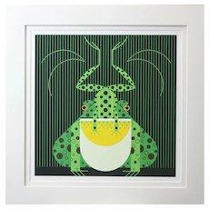Charles Harper Serigraph Frog Eat Frog