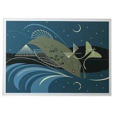 Charles Harper Serigraph Fish