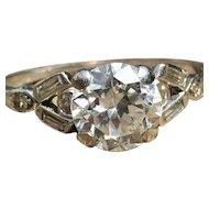 Art Deco Engagement Ring 1.0 carat Old European Cut Diamond 1920's Engagement Ring Diamond Ring Platinum engagement ring One Carat Diamond