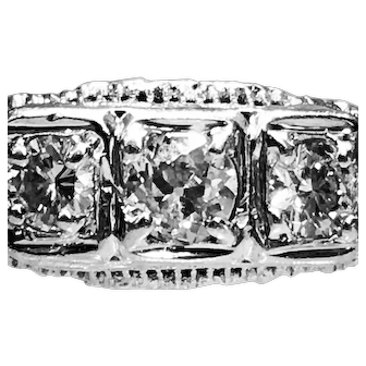 Art Deco Ring Vintage Orange Blossom Engagement Ring Edwardian 14k Filigree Old European Cut Diamond Ring 1920s 0.75cttw