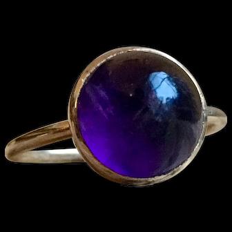 Vintage Amethyst Ring Amethyst Engagement Ring 4.0 carat Amethyst 10k yellow gold ring