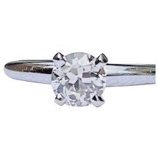Vintage Diamond Engagement Ring 0.50 carat Old European Cut Diamond Ring 14k yellow gold band classic six prong setting