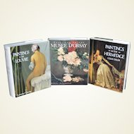 Beautiful Three-Volume Publication Featuring Famous Museums of Fine Art- Musée d'Orsay, Hermitage Museum & The Louvre