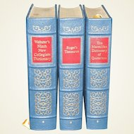 Three-Volume Set: Webster's Ninth New Collegiate Dictionary, Roger's Thesaurus & The Macmillan Dictionary of Quotations