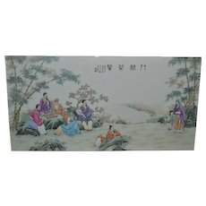 Chinese Hand-Painted Ceramic Wall Plaque