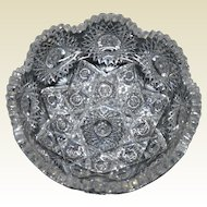 Hawkes Cut Glass Bowl- Festoon Pattern, American Brilliant Period