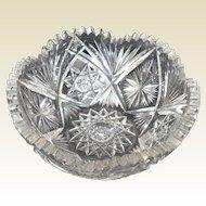 Beautiful American Brilliant Period Cut Glass Bowl