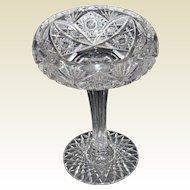 American Brilliant Period Cut Glass Compote