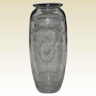 Hawkes Cut Glass Vase American Brilliant Period