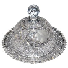American Brilliant Period Cheese Dome with Underplate