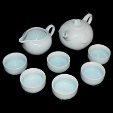 Fine Porcelain Tea Set of Kaolin Clay